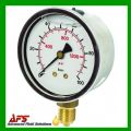 Bottom Entry Glycerine Filled Pressure Gauges PSI & BAR